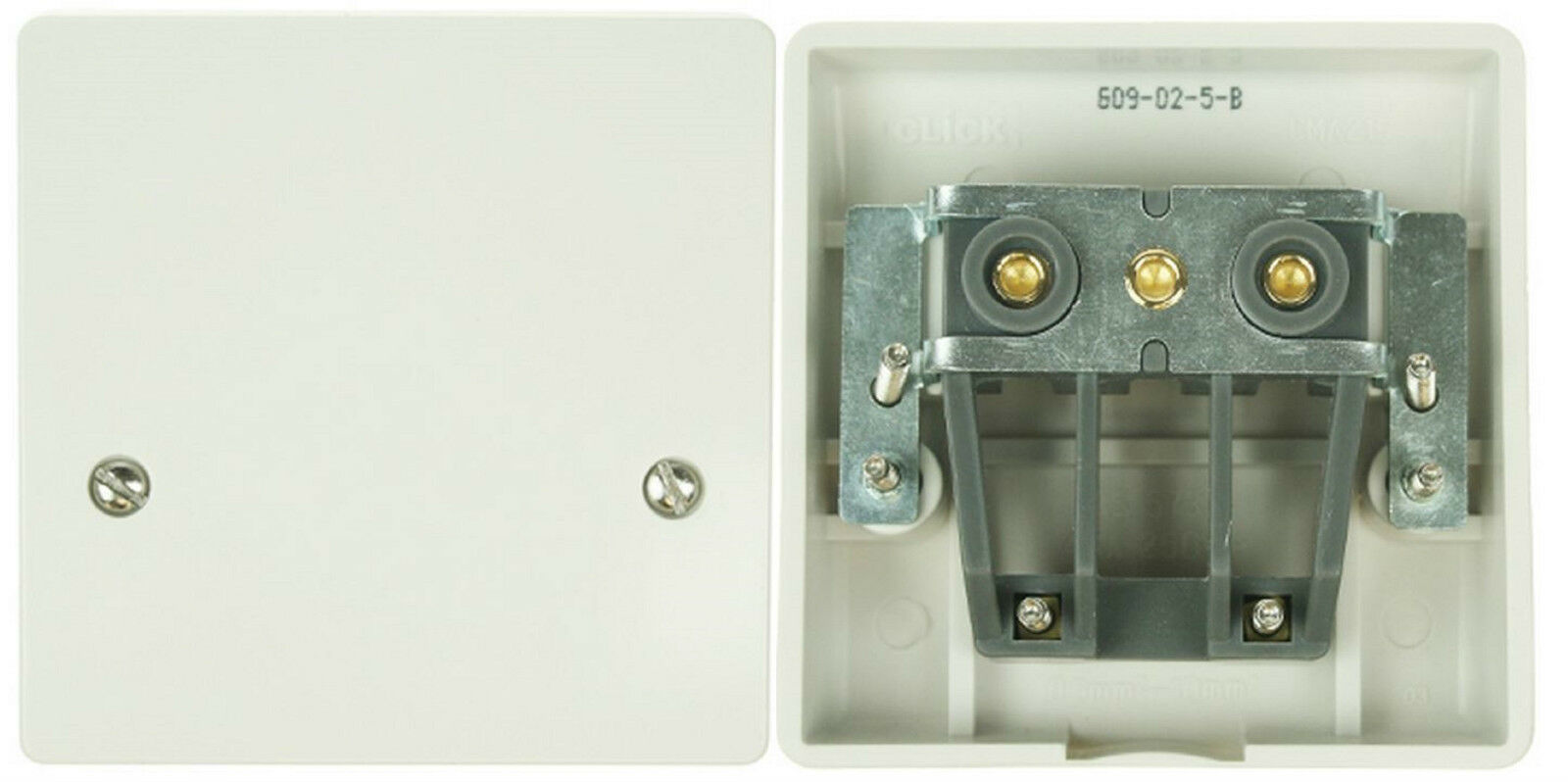 Click Mode 45a Cooker Connection Plate Ergonomic Wiring Accessories Scolmore 1 Of 3only 4 Available See More