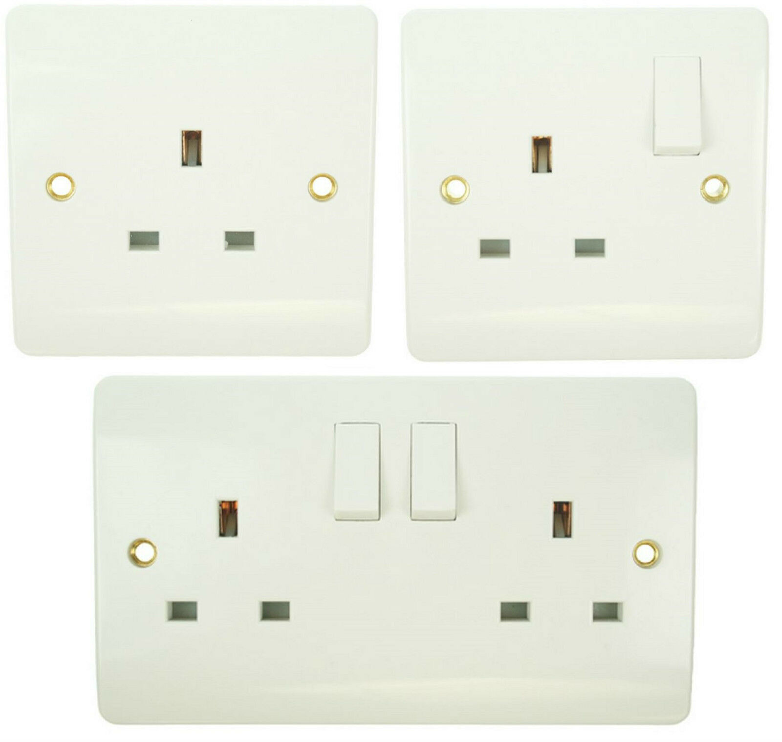 Click Mode 13a Uk Socket Outlets Ergonomic Wiring Accessories White Cooker Scolmore