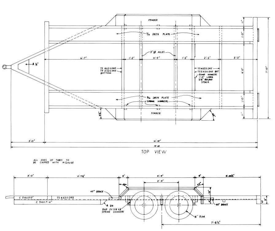 16 Car Trailer Building Plans Cd Car Hauler Truck Farm How To Cd • CAD $20.86 - PicClick CA