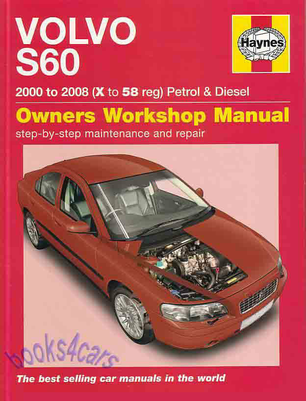volvo s60 shop manual service repair book haynes owners workshop rh picclick com 2006 volvo s60 owners manual 2008 volvo s60 service manual