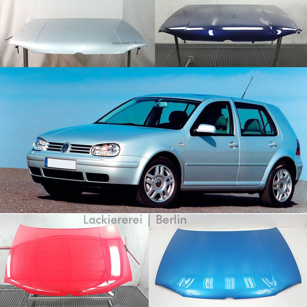 vw golf 4 1997 2006 motorhaube professionell lackiert in. Black Bedroom Furniture Sets. Home Design Ideas