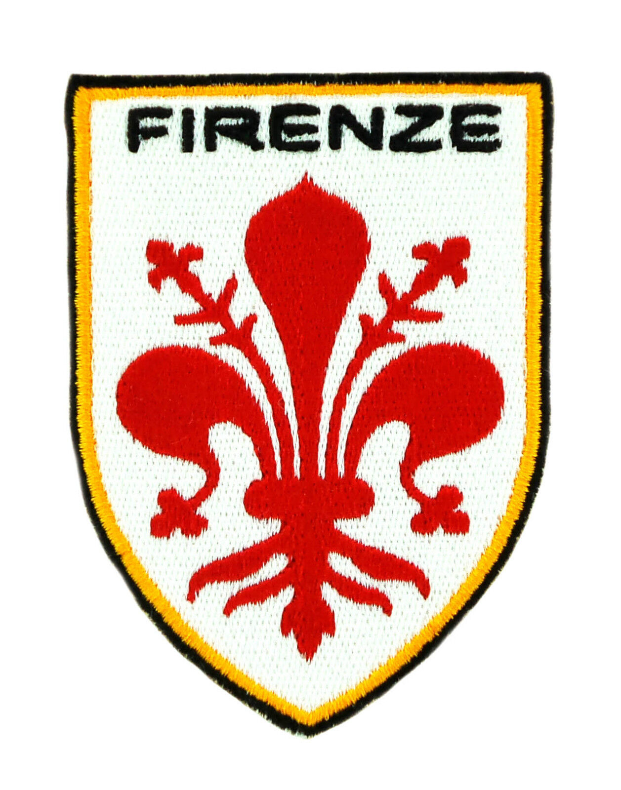 Flag Patch Shield Italy Firenze Florence Coat Of Arms Embroidered