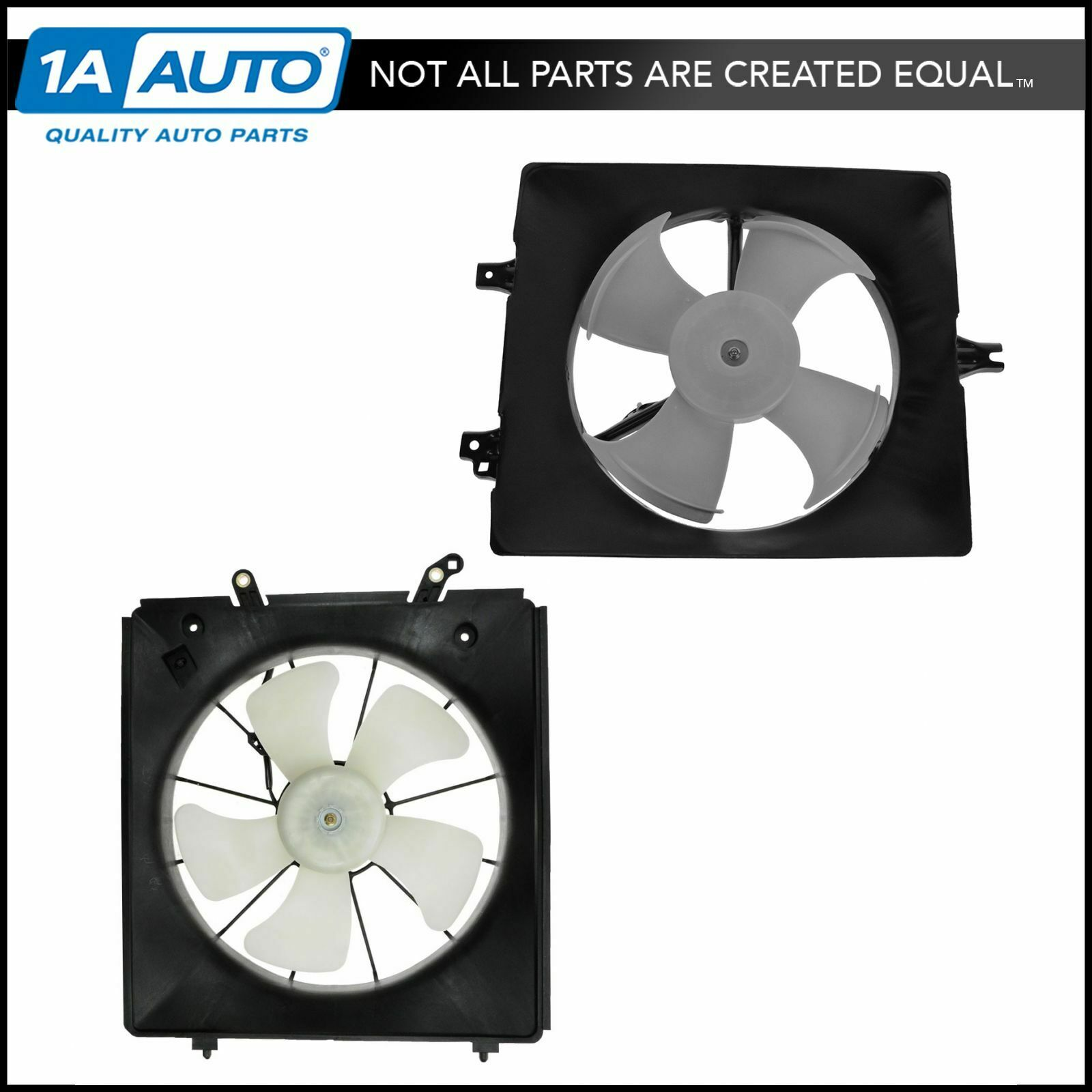 Radiator AC Condenser Cooling Fan Assembly Pair Set of 2 for Honda Accord TL  1 of 4Only 3 available ...