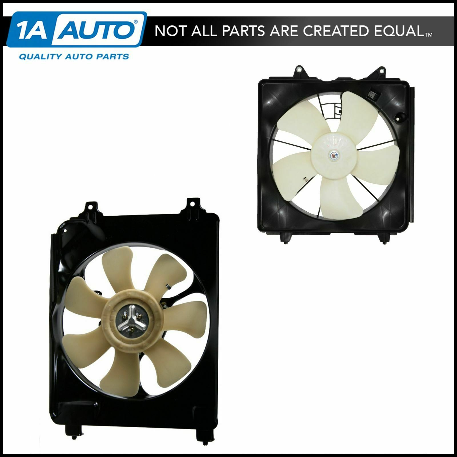 Radiator AC Condenser Cooling Fan Assembly Pair Set for Honda Civic 1.8  Manual 1 of 5Only 3 available ...