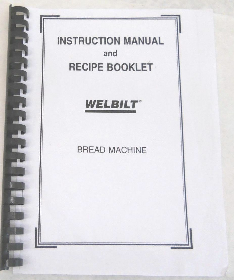 welbilt bread machine abm 100 3
