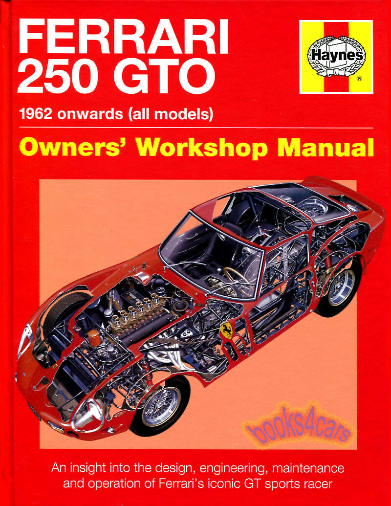 Ferrari 250 Gto Haynes Manual Book Owners Workshop History 1 of 1FREE  Shipping See More