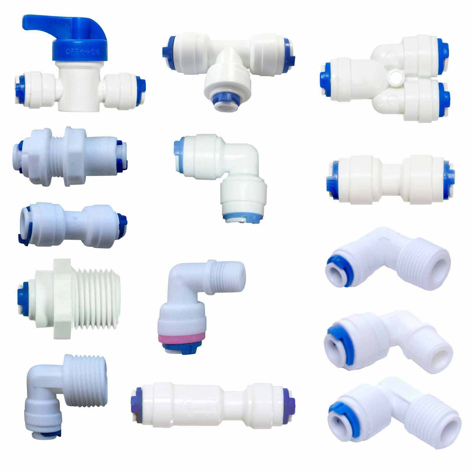 "1/4"" Push Fit Pipe Fittings - American Fridge and RO Unit Elbow, Tee Piece etc."