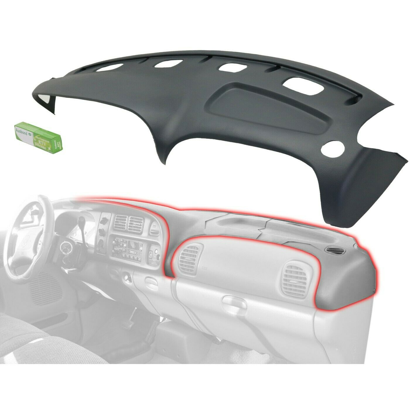 Grey Molded Plastic Dash Pad Cover Overlay Fits 98 02 Dodge Ram 99 00 01 03 Acura Tl Under Hood Fuse Box Ebay 1 Of 7free Shipping