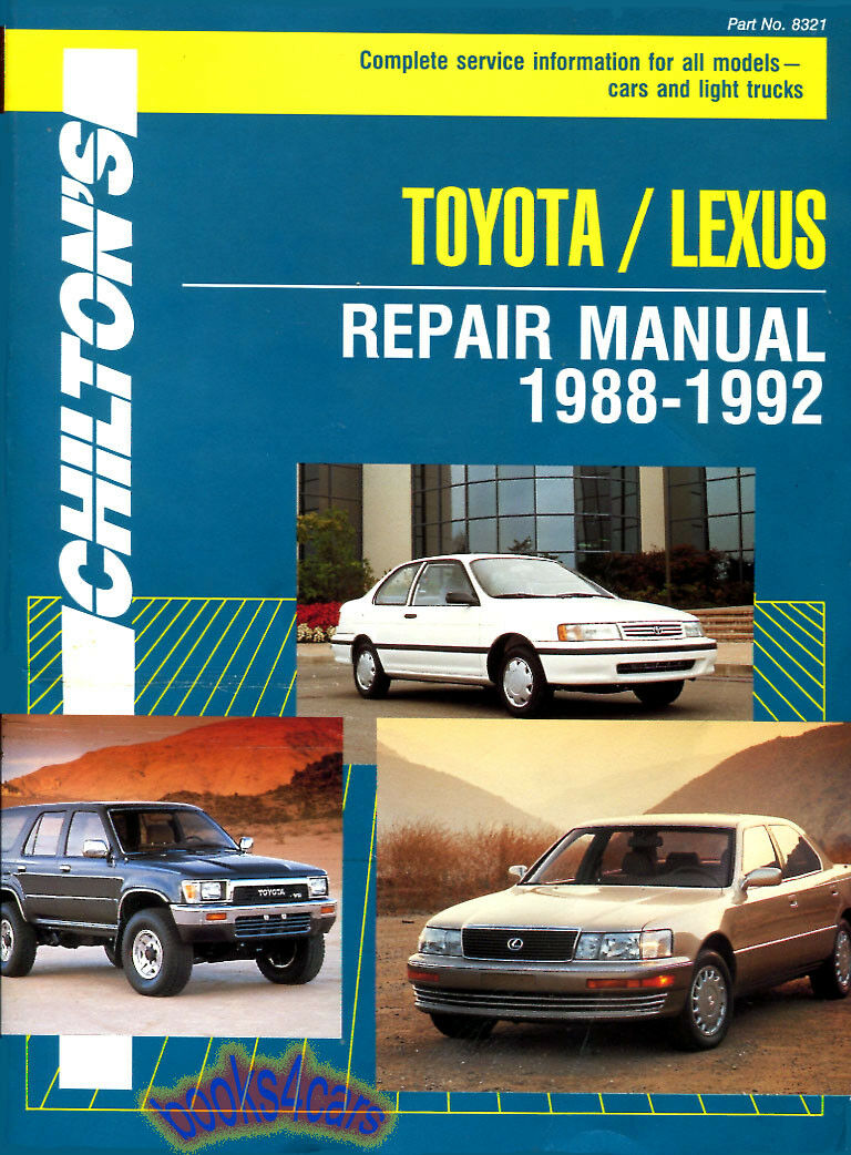 Lexus Shop Manual Service Repair Book Chilton Haynes Ls400 Es250 1 of 1FREE  Shipping ...