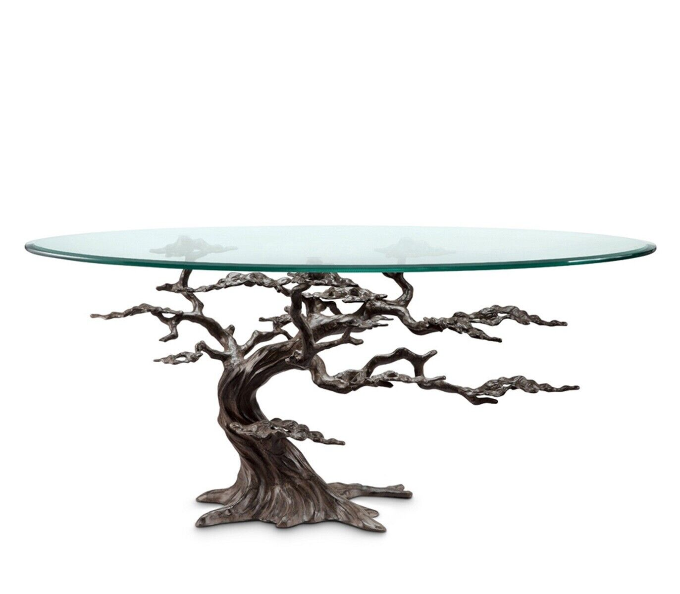 Coastal Cypress Tree Metal Gl Coffee Table Sculpture Rustic Beach River Lake