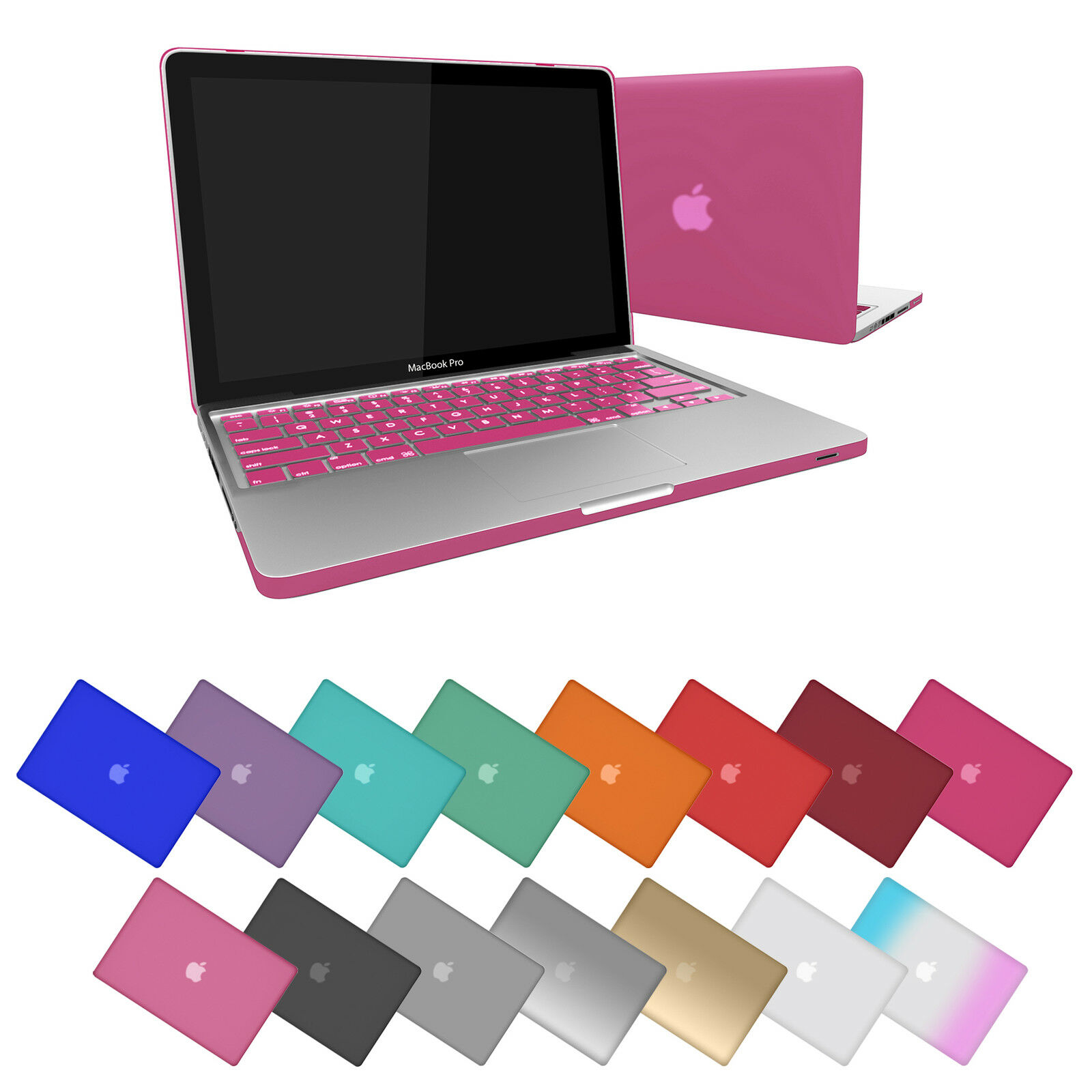 Rubberized Matte Shell Case For Apple Macbook Pro 13 133 Retina 15 Inch Grey 1 Of 6free Shipping