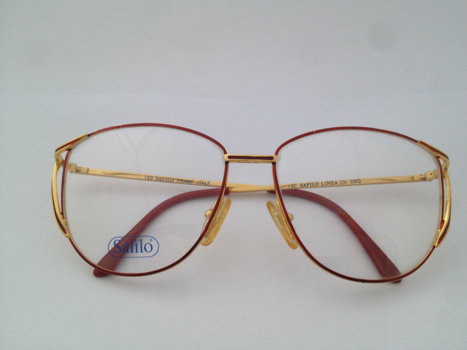 SAFILO GLASSES BRILLE VISTA WOMAN Vintage ages 80\'s NERD 495 DE ...