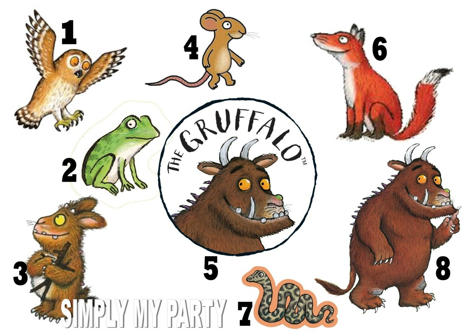 iron on transfer the gruffalo mouse owl for any color t snake clip art images snake clip art with food