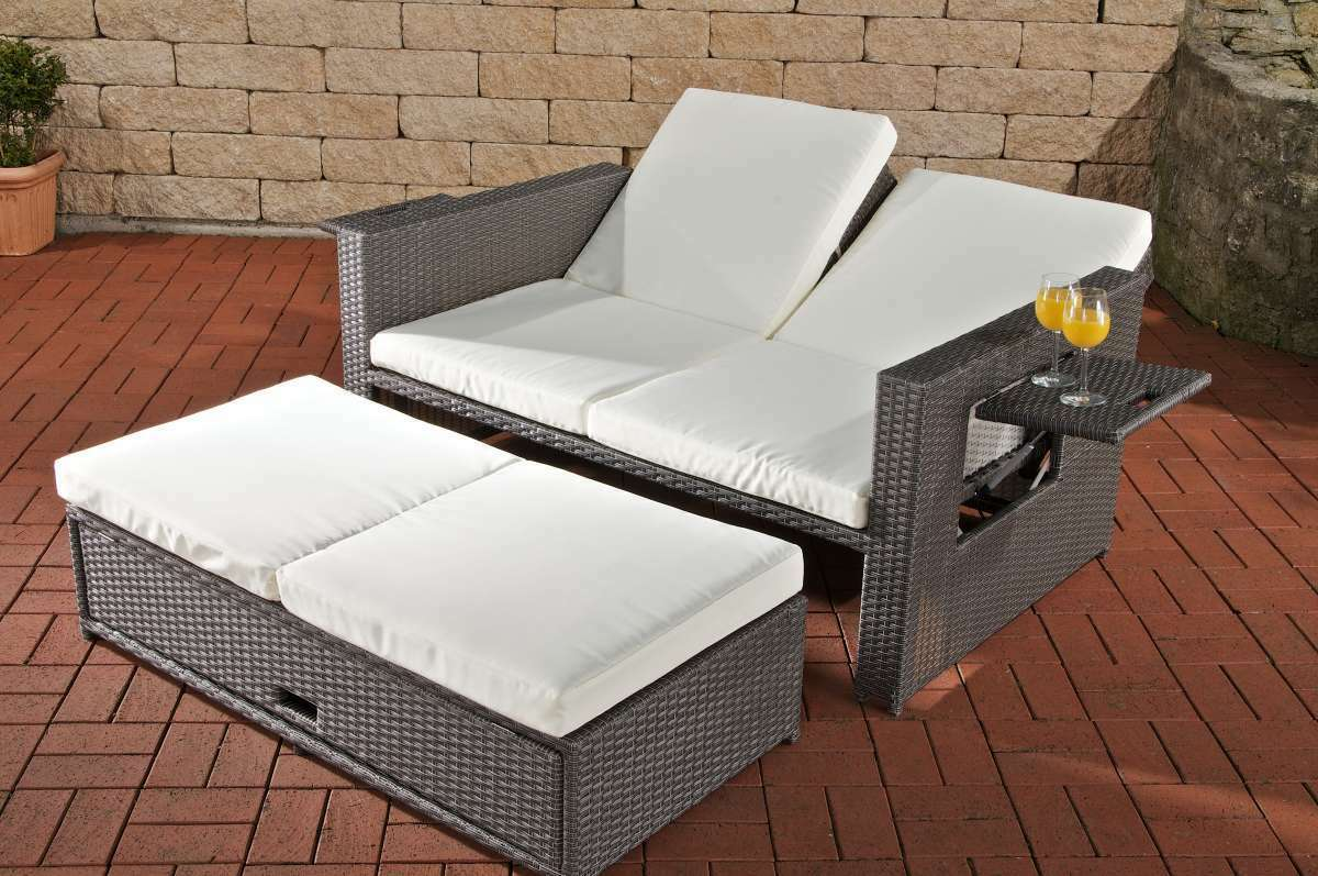 gartensofa verstellbar polyrattan grau funktionssofa garten outdoor sonnenliege eur 629 99. Black Bedroom Furniture Sets. Home Design Ideas