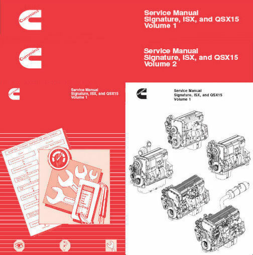 cummins signature isx and qsx15 shop service manual engine repair rh picclick com