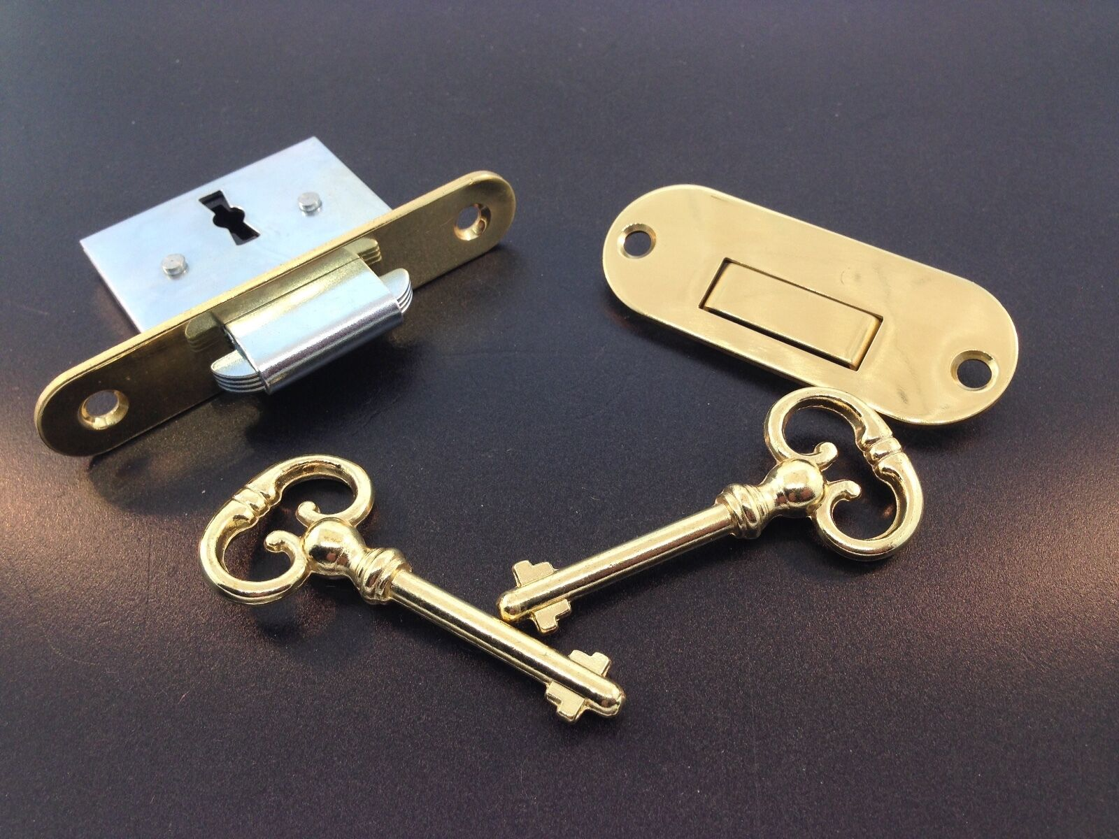 Roll Top Desk Lock With Self Closing Strike Hardware 18