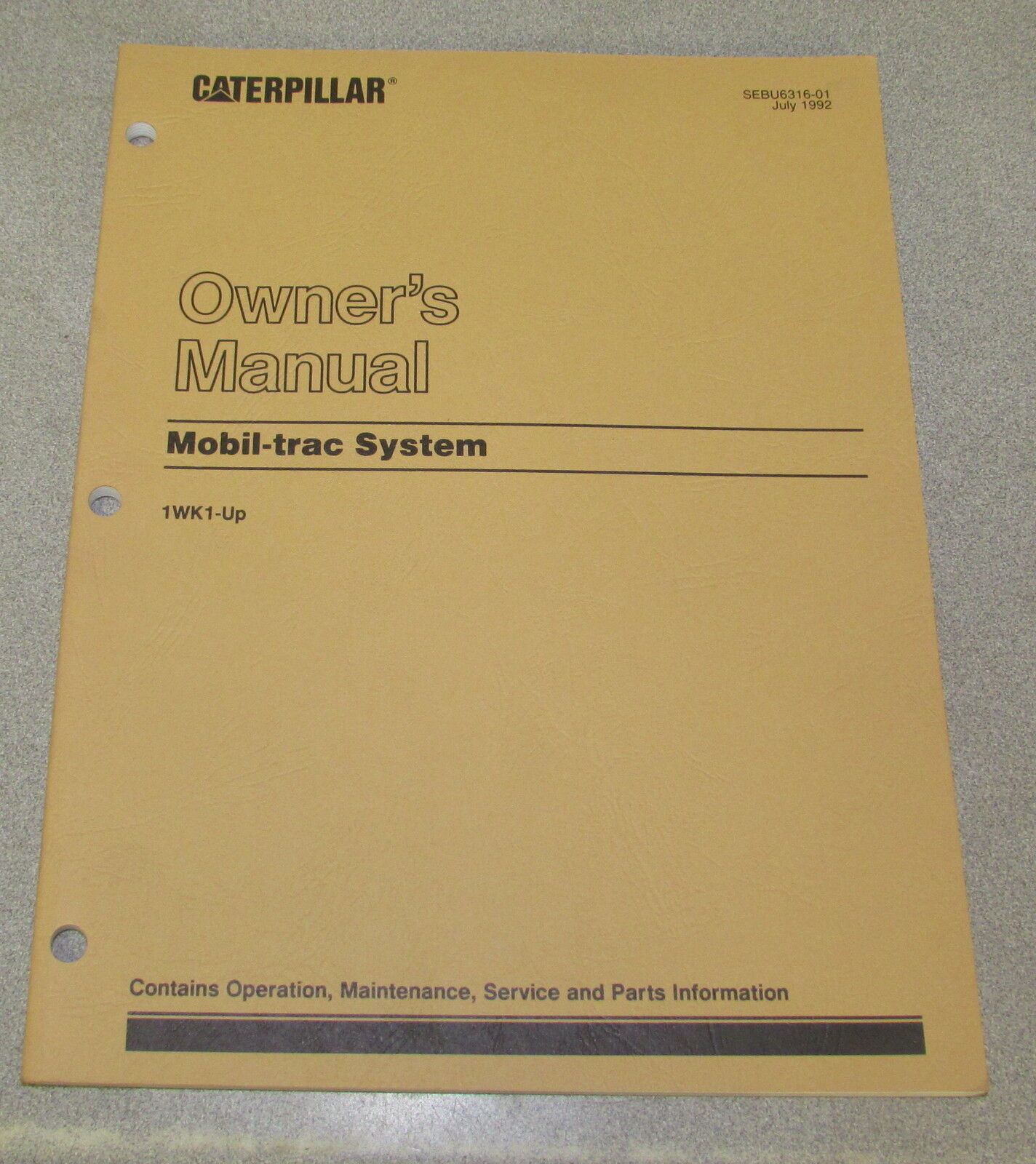 Caterpillar Cat Mobile-Trac System Operation Maintenance Service Parts  Manual 1 of 1Only 1 available ...