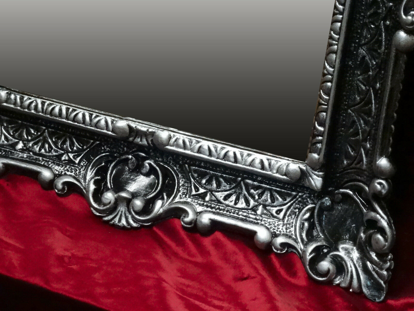 miroir mural noir argent ancien baroque bad miroir de. Black Bedroom Furniture Sets. Home Design Ideas