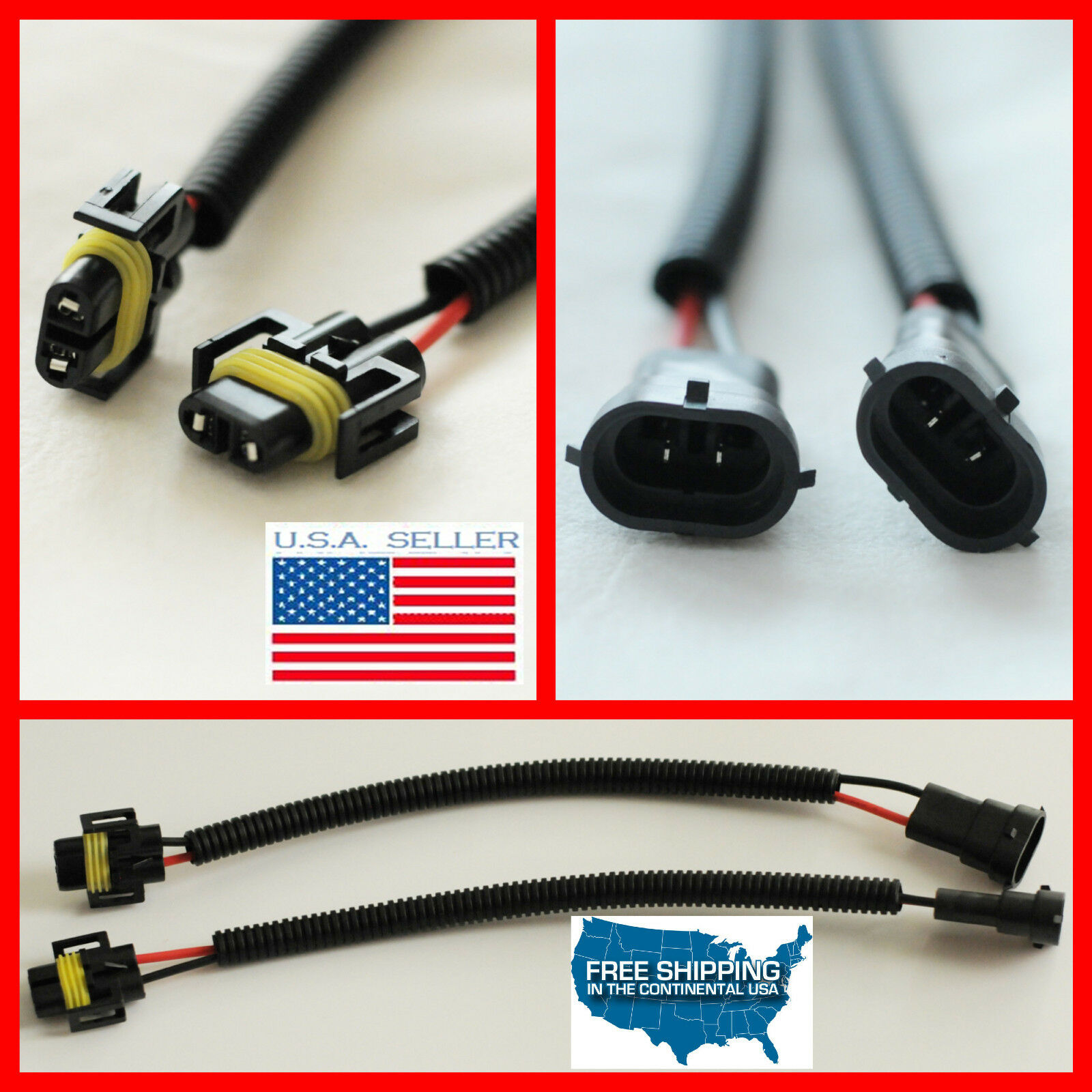 H8 Wiring Harness Library Bmw Connector H11 H9 Socket Wire Plug Extension Cables Hid Led 1 Of