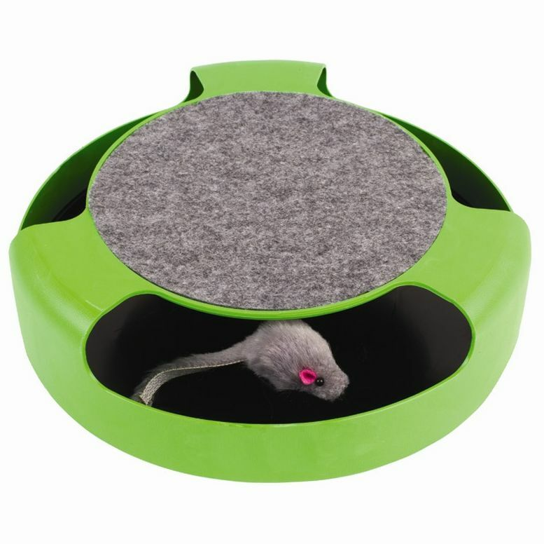 Cat Kitten Catch The Mouse Moving Toy Scratching Claw Care Mat Pad Play Gift