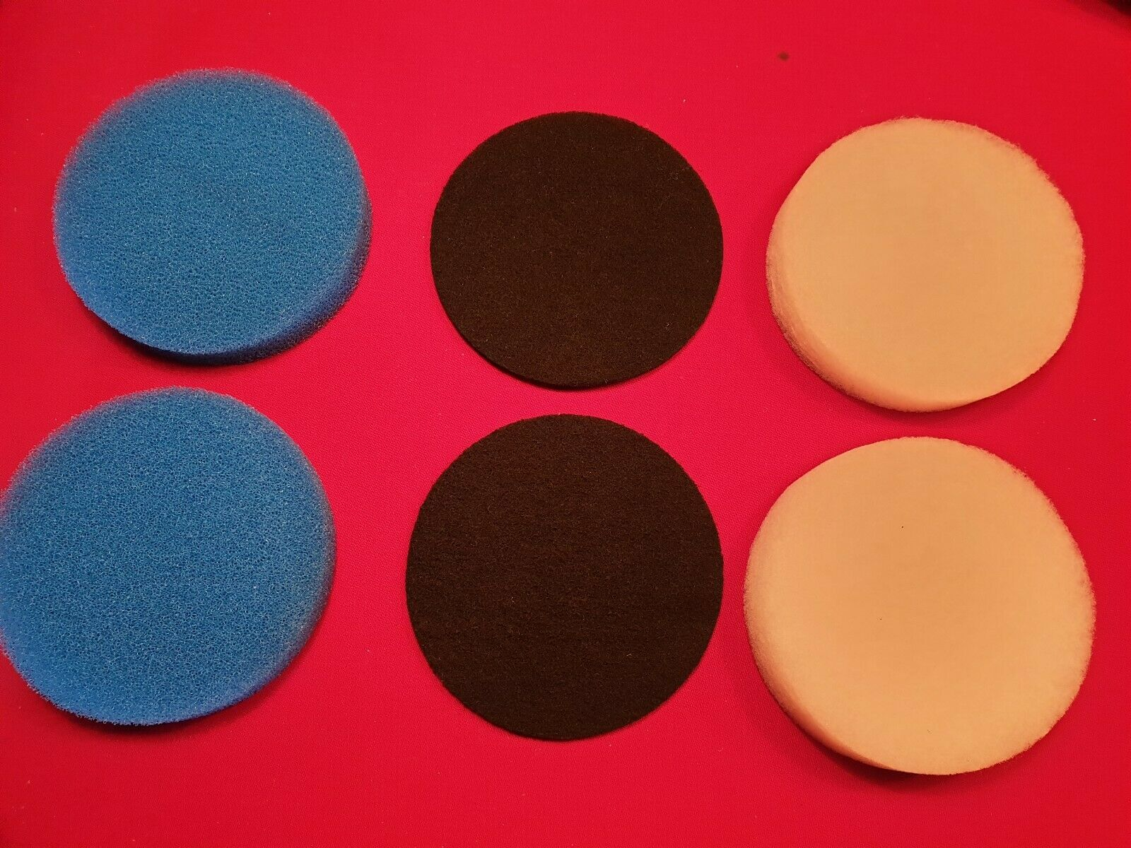 Compatible Eheim 2213 Media Set 6 Pads 2 Blue 2 Carbon & 2 White Polishing Pads
