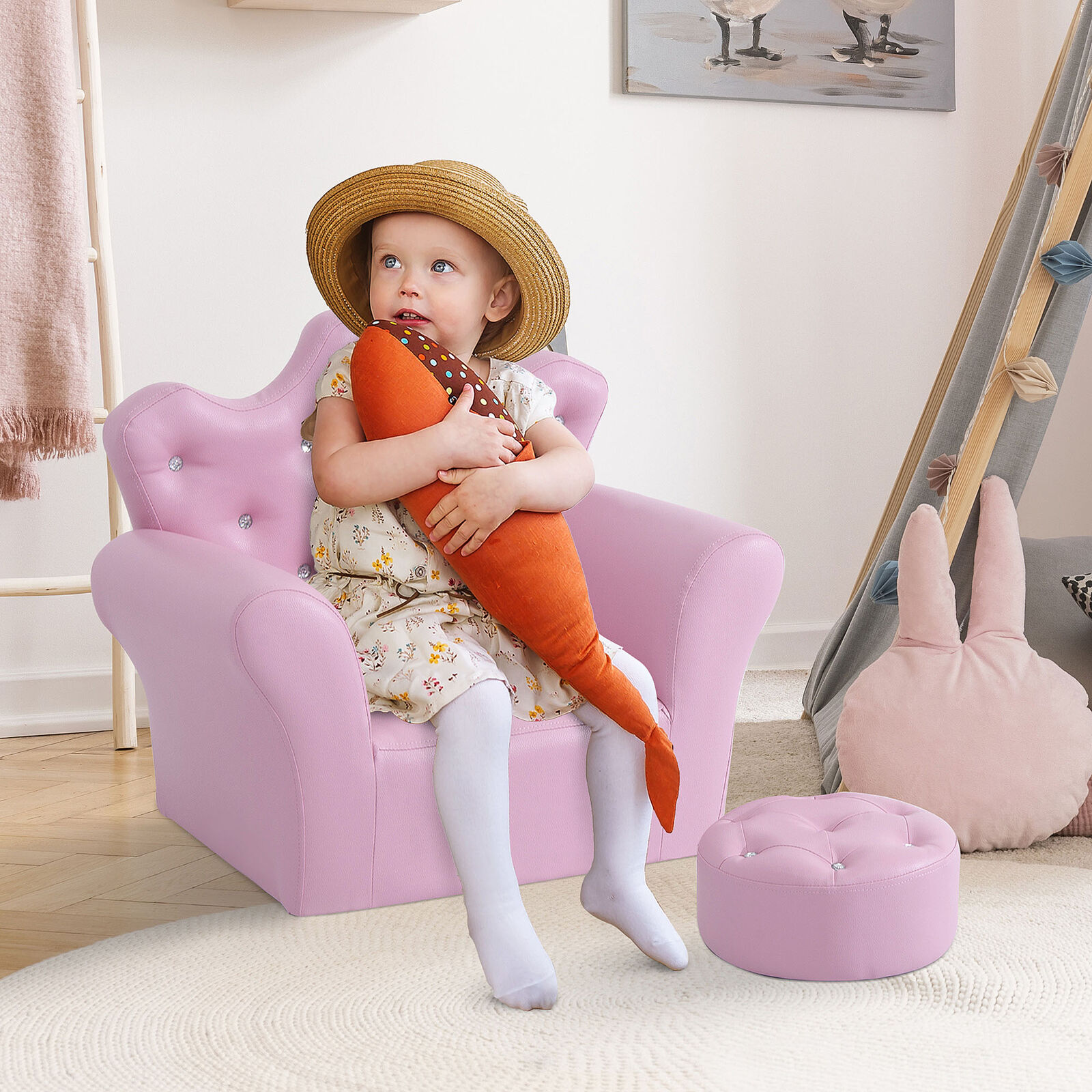 Children Kids Sofa Set Armchair Chair Seat With Free