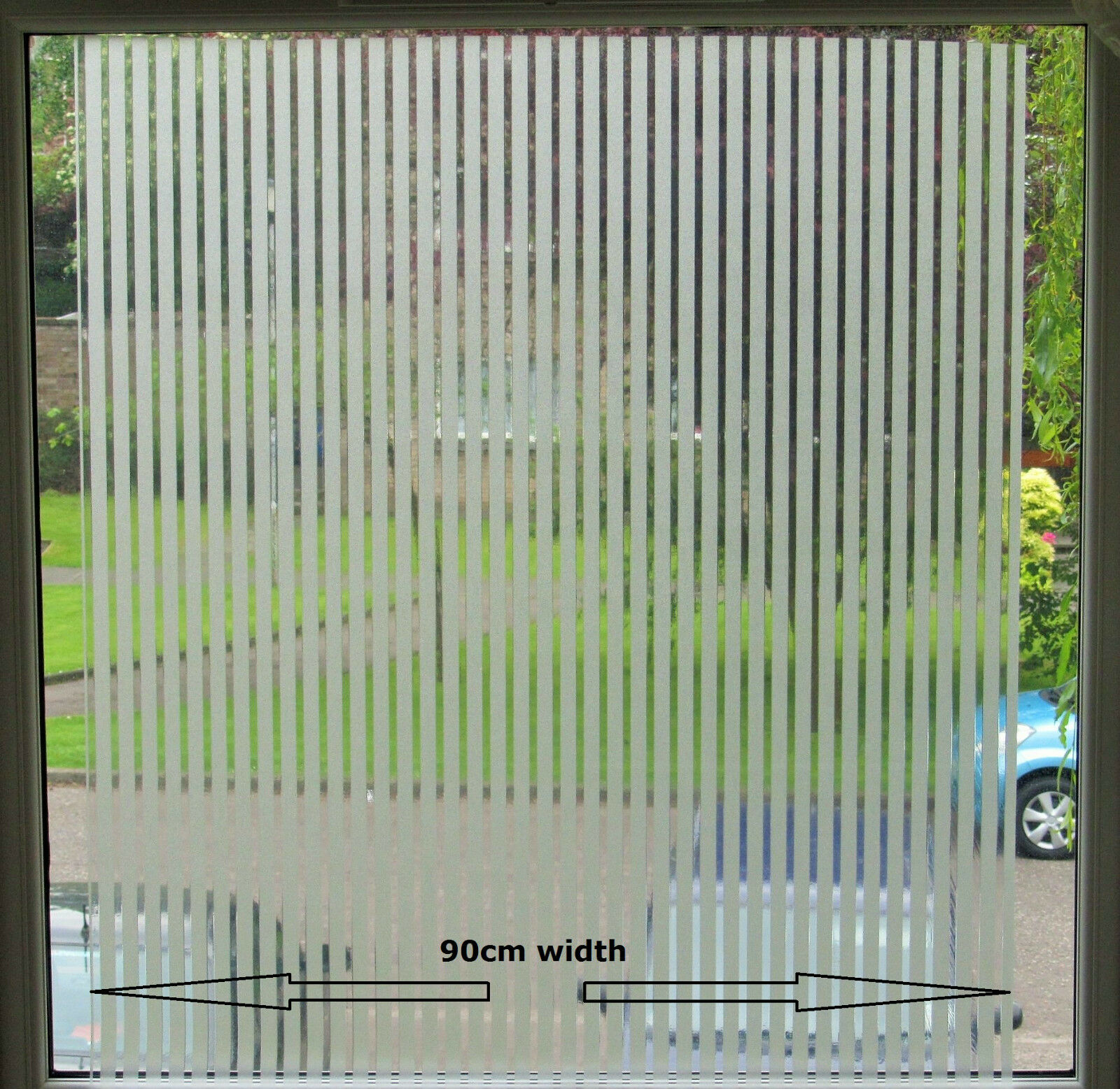 Elegant window blinds design frosted decorative static for Elegant windows