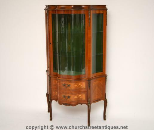 Antique Swedish Display Cabinet Vitrine