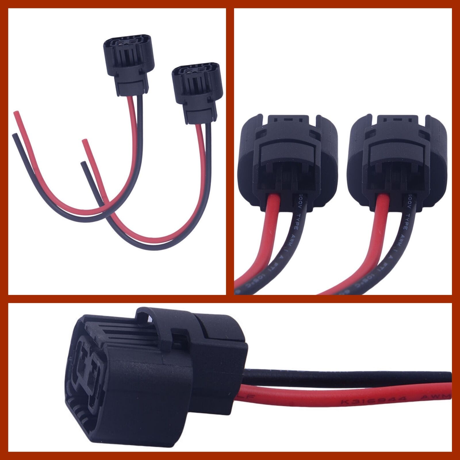 New 5202 H16 2504 Ps24w Female Connector Wiring Pigtail Harness For Gm Light Fog