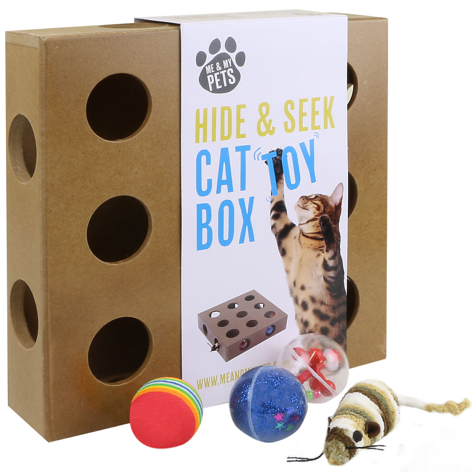 Me & My Interactive Hide & Seek Cat/kitten Activity Play Toy Box/mouse Catch