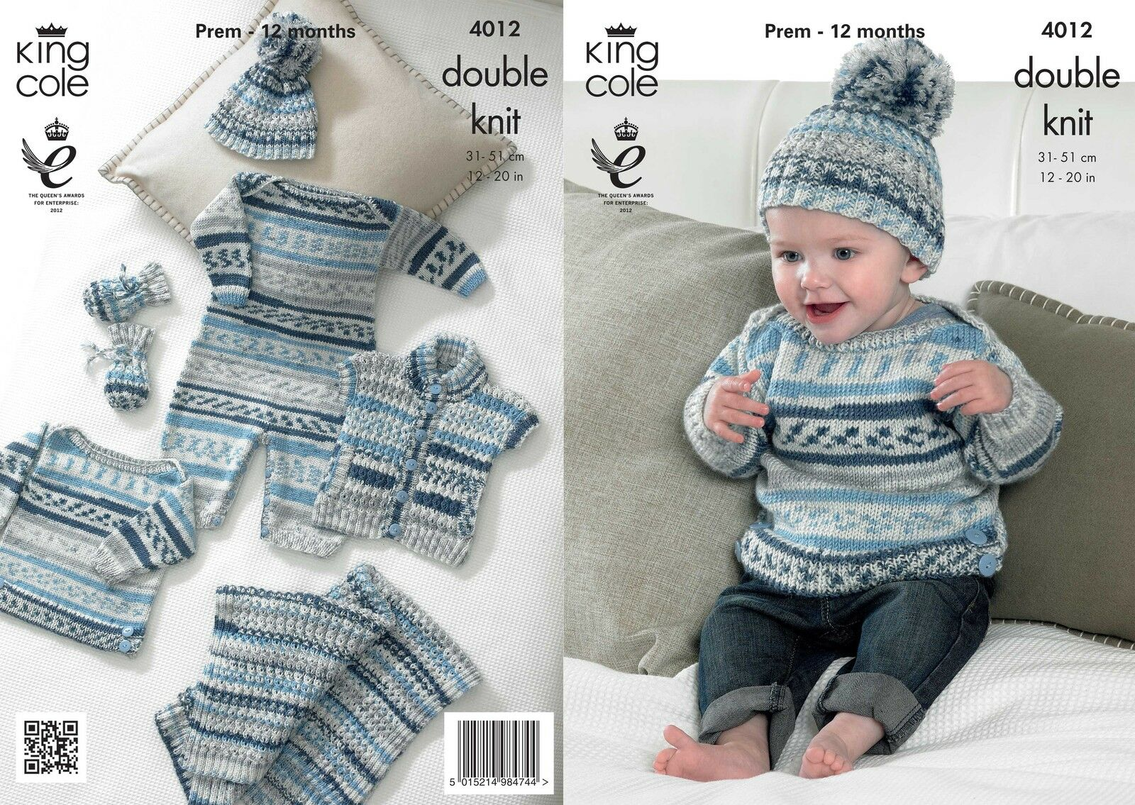 King Cole 4012 Knitting Pattern Baby Set in King Cole Cherish DK   ?3.89 - Pi...