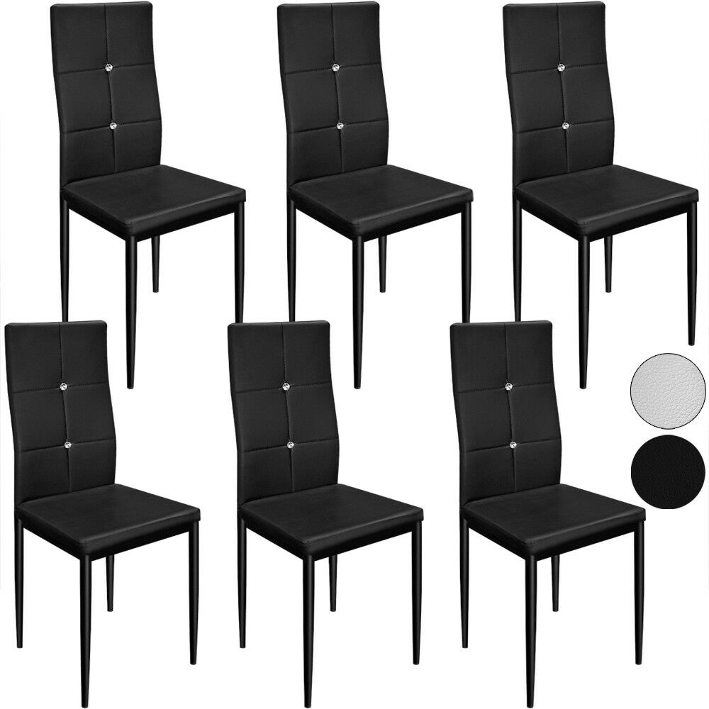6 esszimmerst hle esszimmerstuhl sitzgruppe esszimmer stuhl schwarz wei eu. Black Bedroom Furniture Sets. Home Design Ideas
