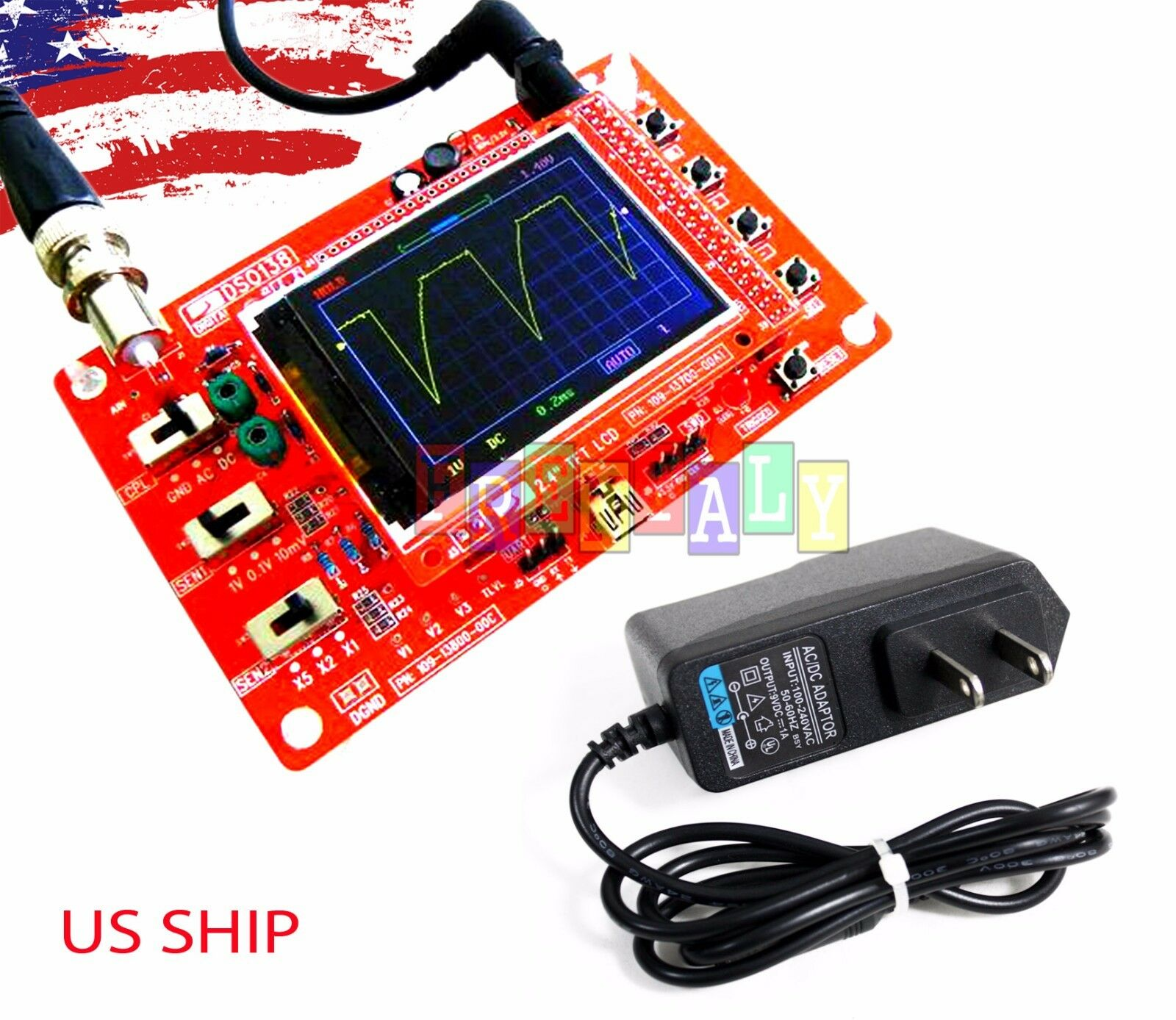 9v power adapter for dso138 24 tft digital oscilloscope kit diy 9v power adapter for dso138 24 tft digital oscilloscope kit diy parts 1msps 1 of 3free shipping see more solutioingenieria Image collections