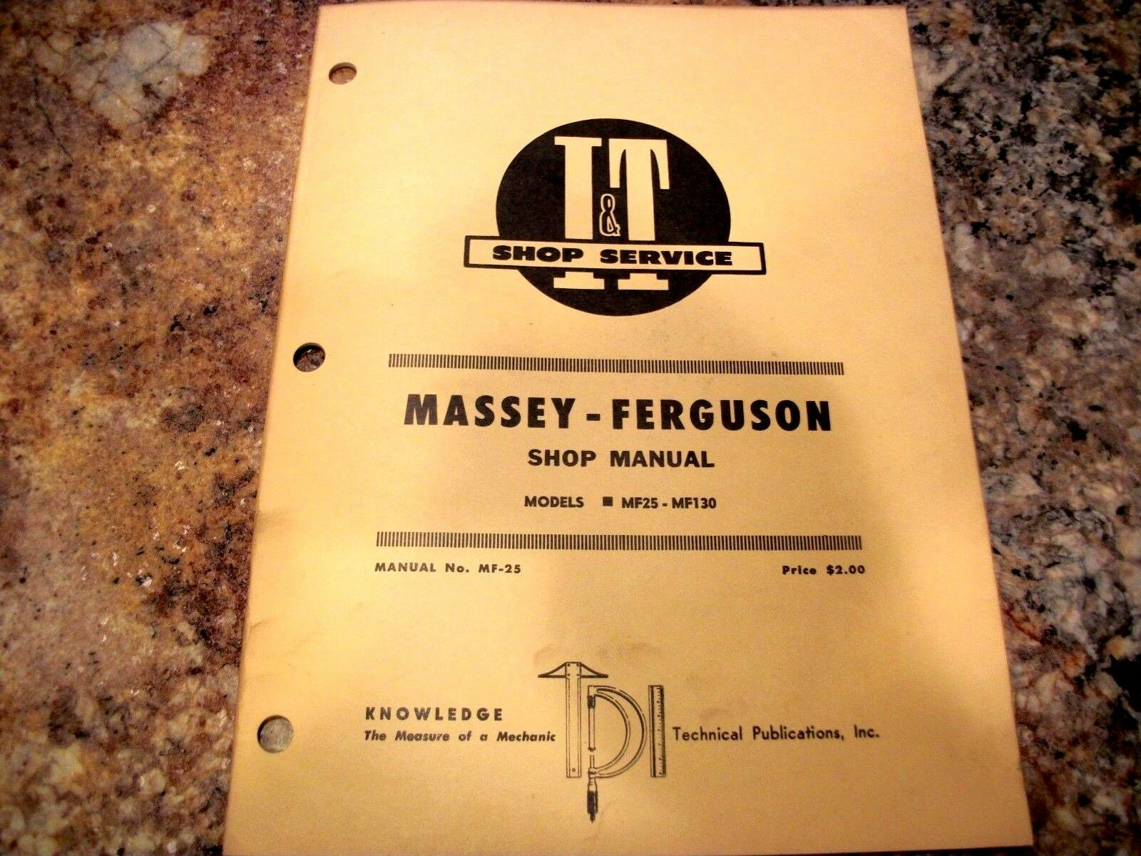 Massey Ferguson Mf25 Mf130 Tractor I & T Shop Service Manual 1 of 4Only 1  available ...