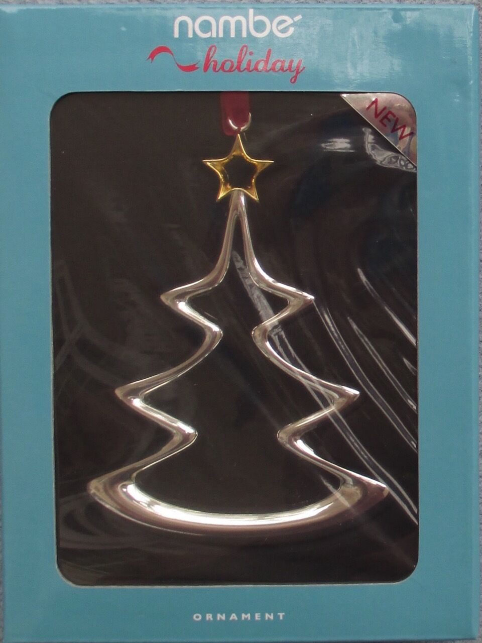Nambe Christmas Tree Ornament Silver and Gold New in Box  2995
