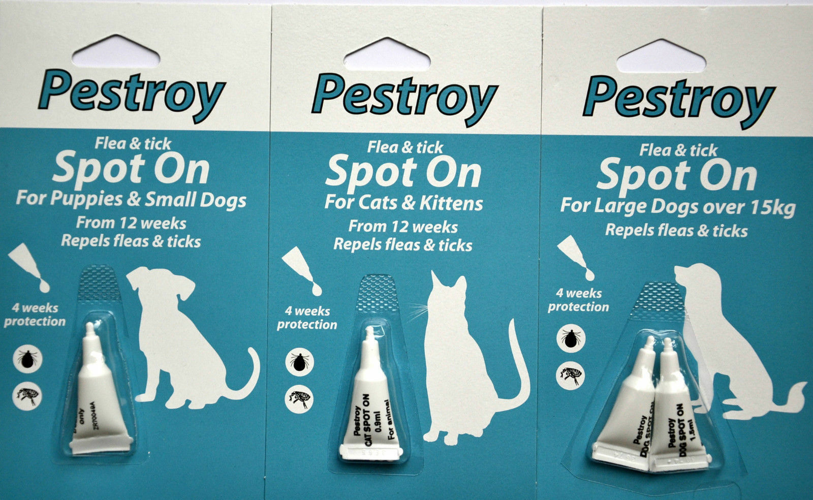 Pestroy Flea & Tick Spot On For Cats & Kittens Large And Small Dogs