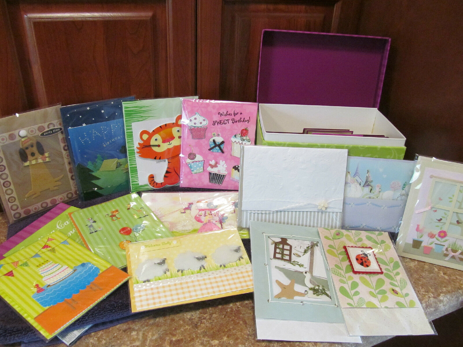 Box Of 30 Handmade All Occasion Greeting Cards By Paper Magic Group