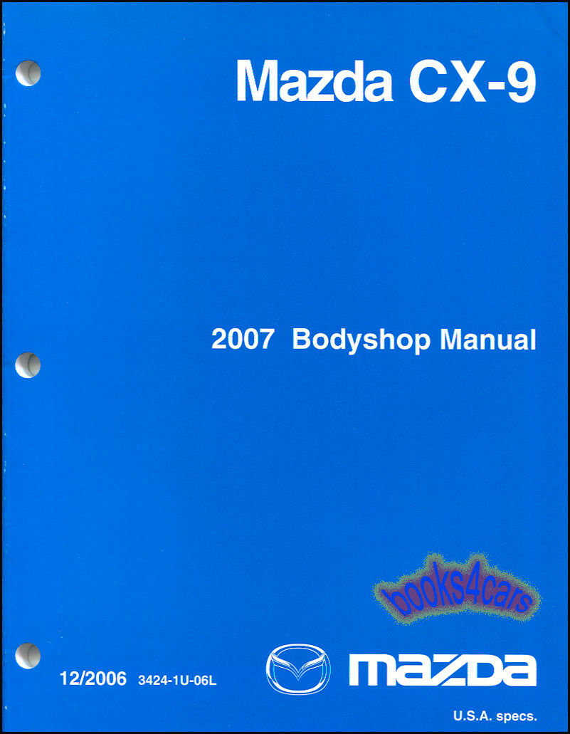 Mazda Cx9 Shop Manual Service Body Repair Factory Guide Book Bodyshop  Collision 1 of 1Only 3 available ...
