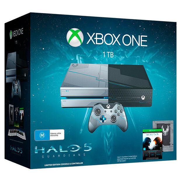 Xbox one 1tb limited edition halo 5 console bundle extra game new sealed aud - Xbox one console day one edition ...