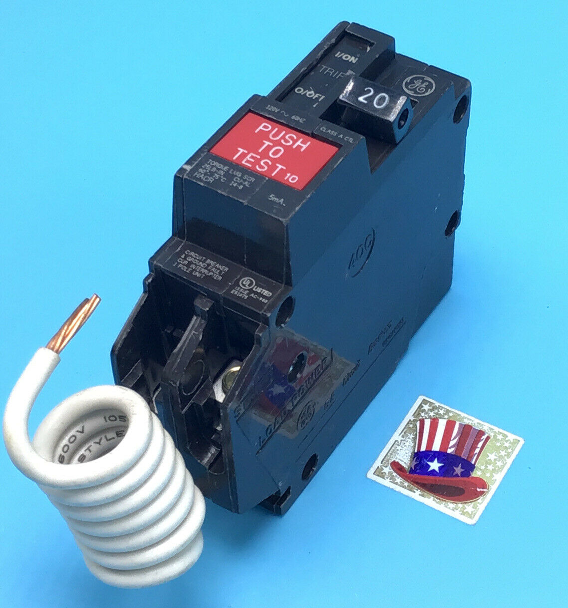 New Circuit Breaker Ge Thql1120gft 20 Amp 1 Pole 120v Self Test Gfci How To Ground Fault Interrupter Thql1120gf Of 2only Available