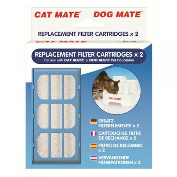 Pet Mate Cat Dog Water Fountain Replacement Filter Cartridges 2 Pack