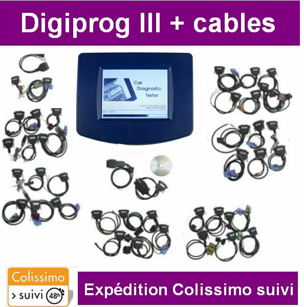 valise digiprog 3 lot de cables diagnostique reprogrammation obd2 eur 514 00. Black Bedroom Furniture Sets. Home Design Ideas