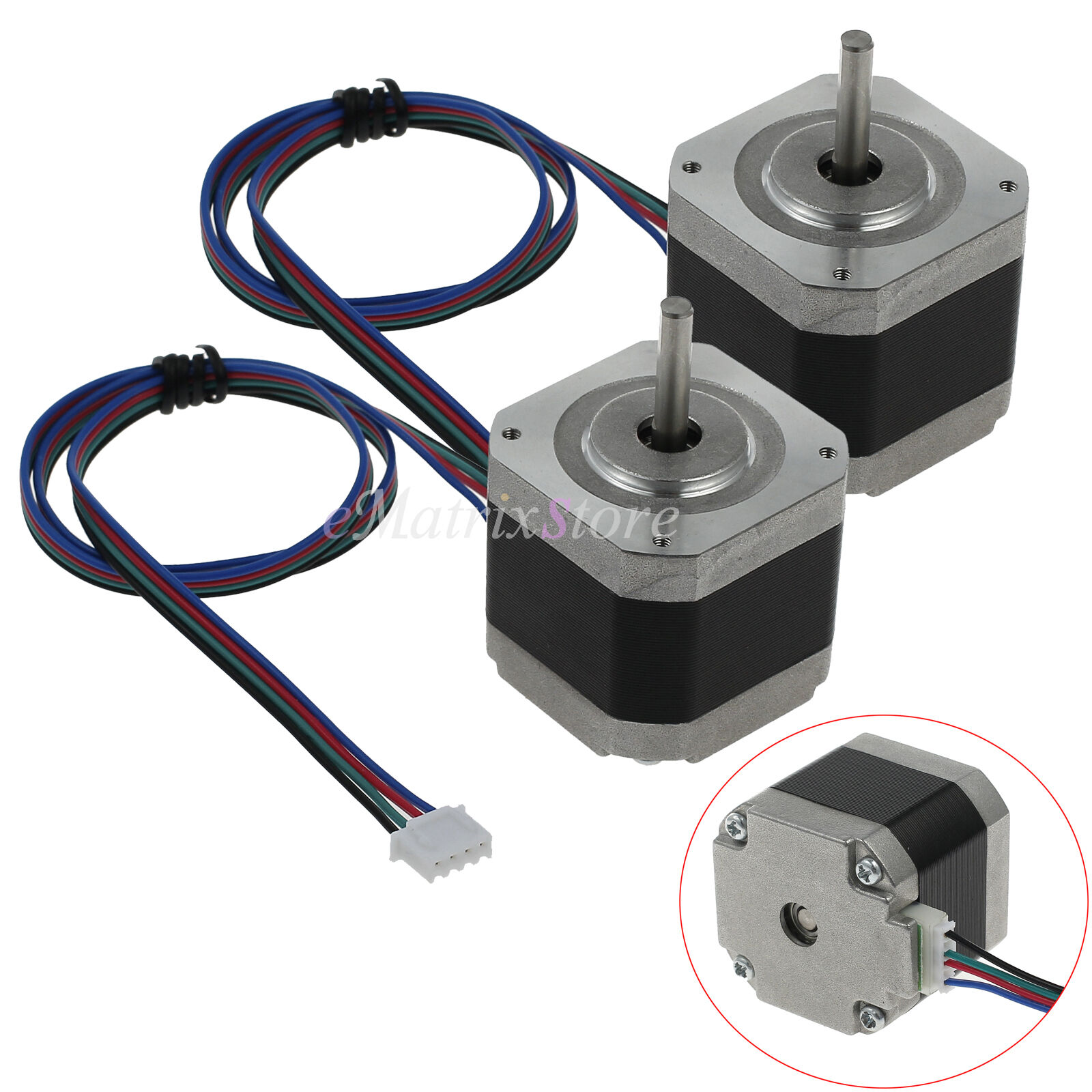 2pcs Nema 17stepper Motor 56ncm 42byghw60 1 8 12v For Diy