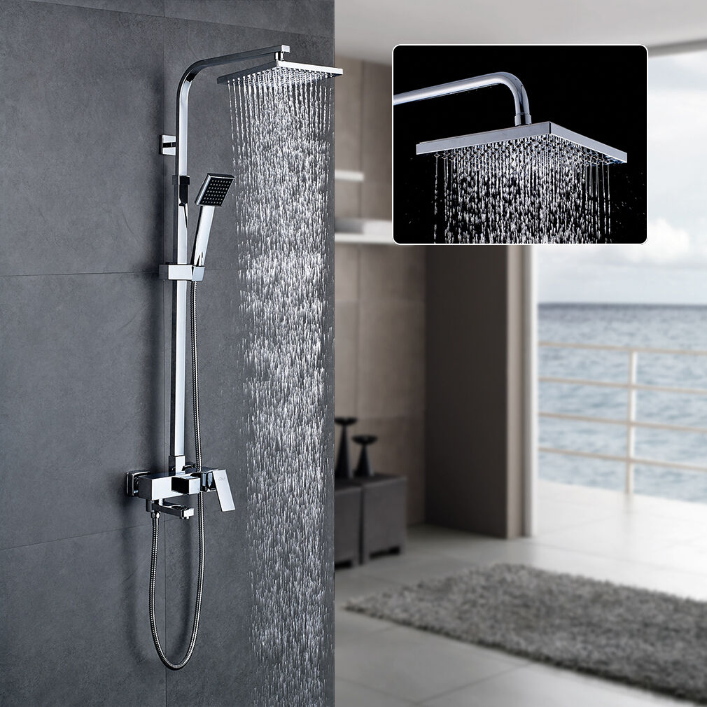 duschsystem duscharmatur regendusche mit thermostat handbrause shower duschs ule eur 126 14. Black Bedroom Furniture Sets. Home Design Ideas