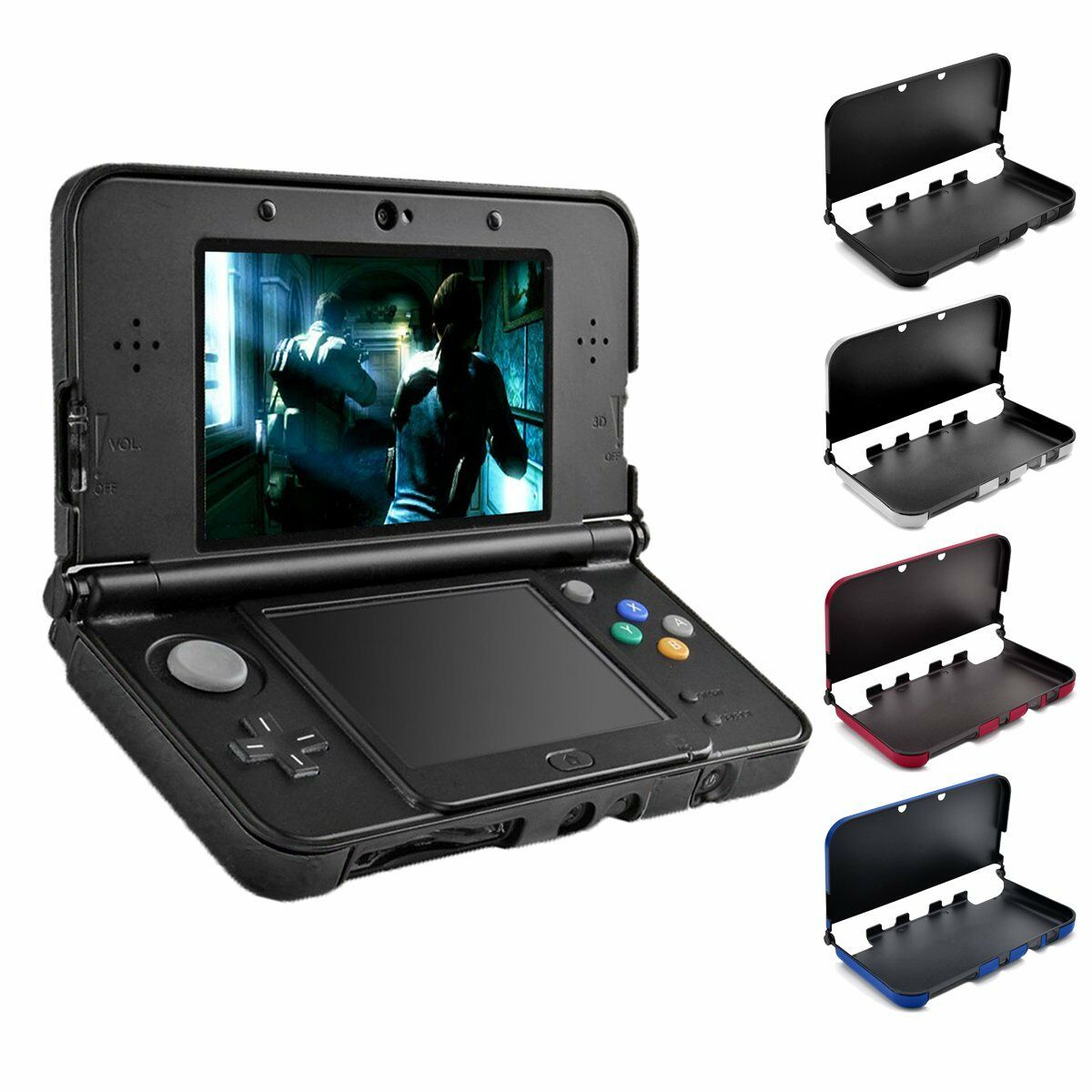 Protective Abs Crystal Hard Shell Case Cover Bumper For New Nintendo Screen Tempered Glass 3ds Xl Ll Hori