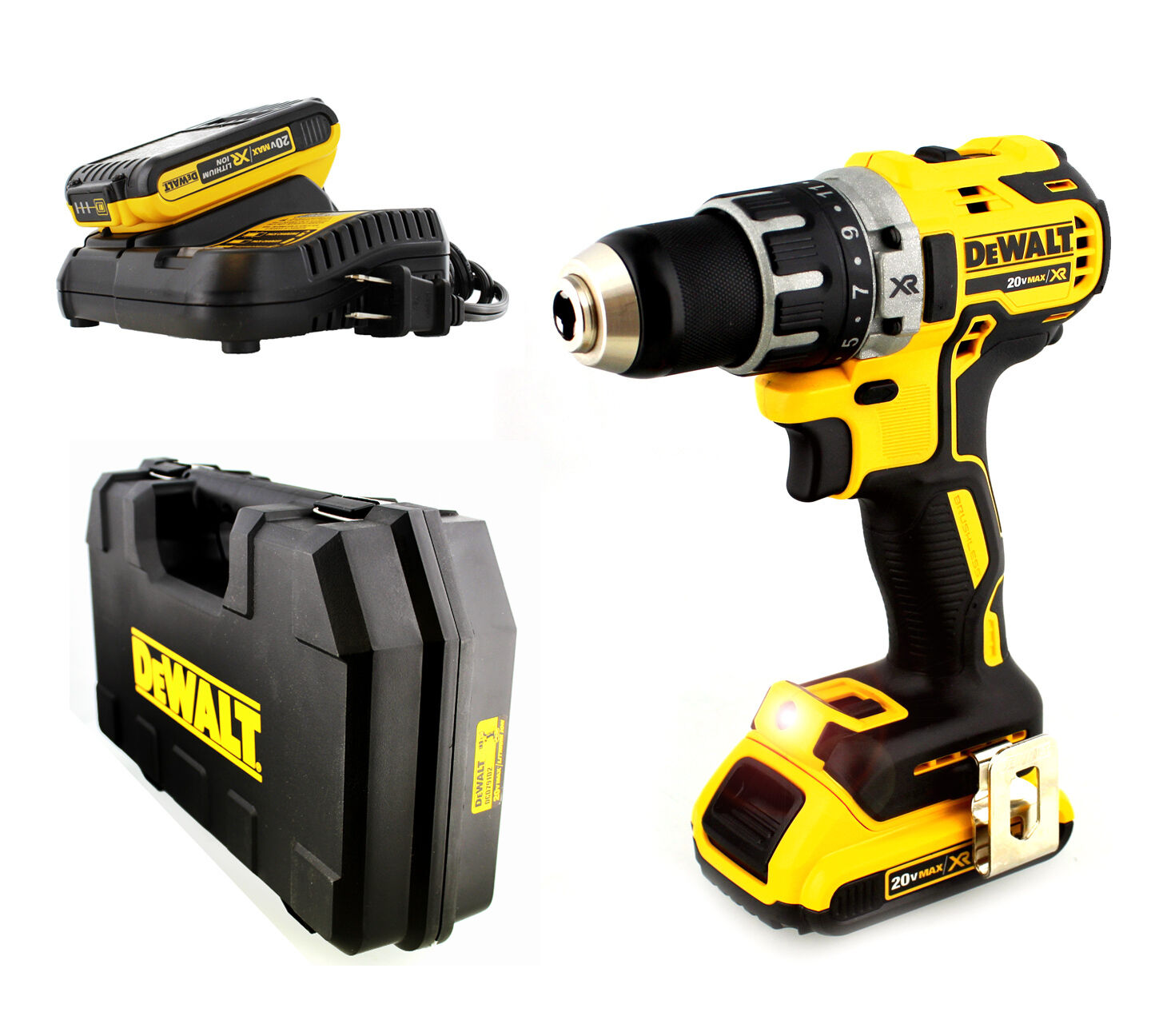 Dewalt dcd791d2 brushless compact drill driver kit 20v for Dewalt 20v brushless motor