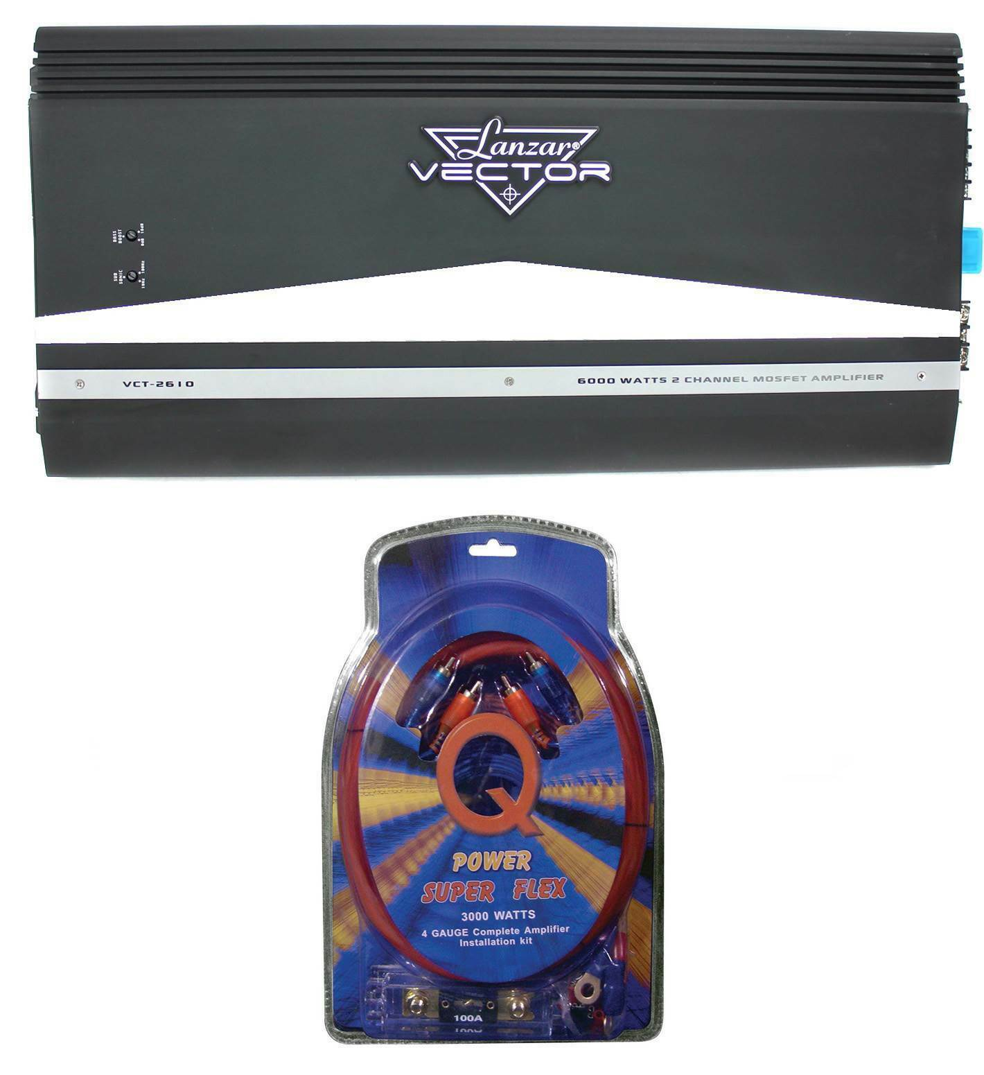 Lanzar Vct2610 6000w 2 Channel Amp Car Power Amplifier 4 Gauge Wiring 1 Of 7only Available