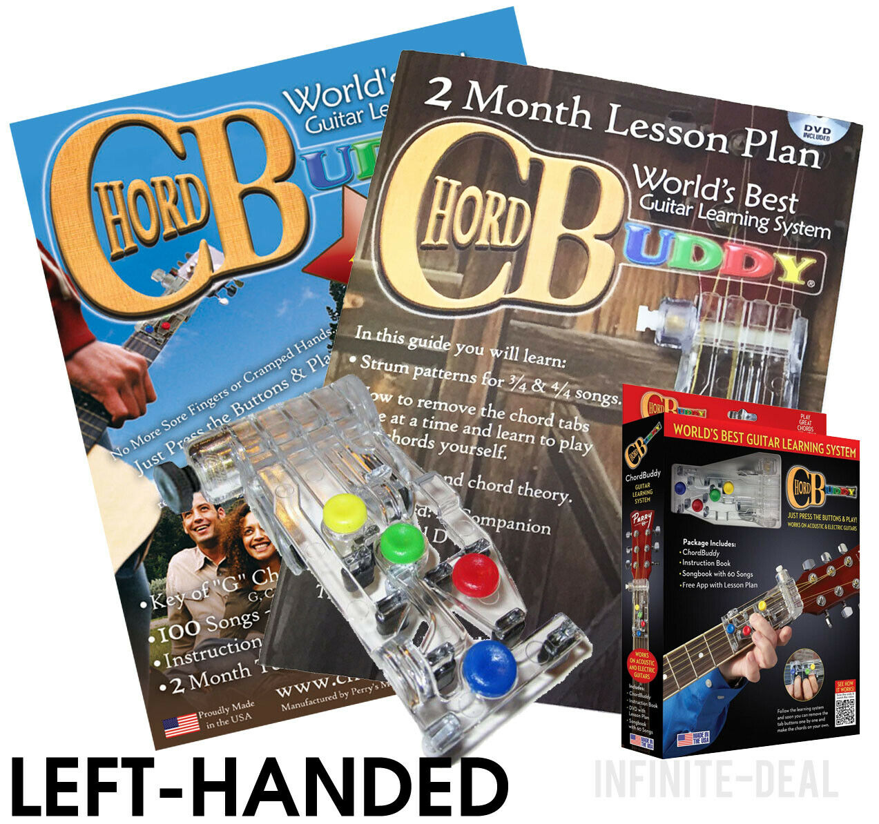 Left Handed Chord Buddy Guitar Learning System Teaching Aid