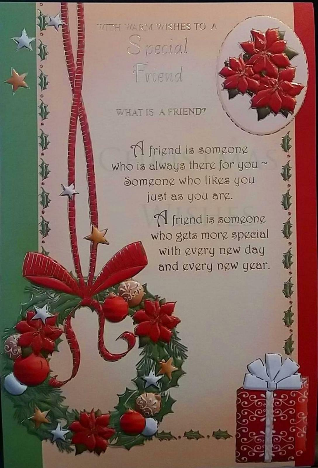 With Warm Wishes Special Friend Nice Sentimental Verse Christmas