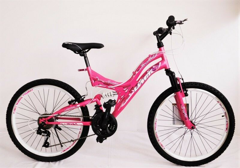 24 zoll m dchenfahrrad 24 kinderfahrrad mountainbike vollgefedert weiss pink eur 749 00. Black Bedroom Furniture Sets. Home Design Ideas